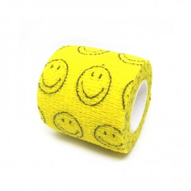 Benda Coadesiva Per Bendaggio Grip - Giallo Smiley