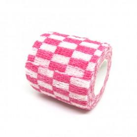 Benda Coadesiva Per Bendaggio Grip - Rosa e Bianco