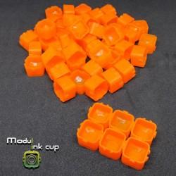 Cups Modulari Portapigmento 100pz Orange