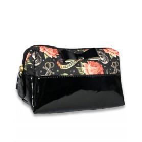 WASH BAG ROSE TATTOO BLACK