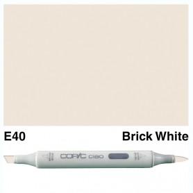 E40 Copic Ciao Brick White