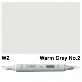 W-2  Copic Ciaol Warm Gray No.2