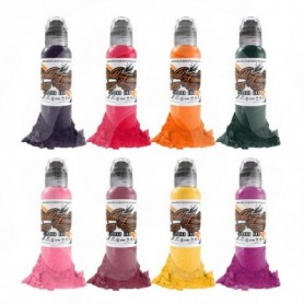 RYAN SMITH - FLOWER Set WORLD FAMOUS INK 8x30ml (1oz) - World Famous Ink