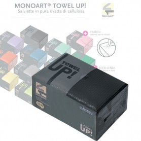 Salviette Monoart Towel Up 50 Pz. Nero