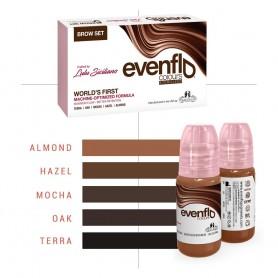Perma Blend - Set Completo per Sopracciglia - Evenflo Brows da 5 x (15ml)