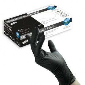 Unigloves Black Pearl Nitrile 100 pezzi XL (9-10)