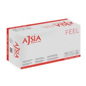 AJSIA Feel - Guanto Monouso Lattice Naturale con polvere S (6-6,5)