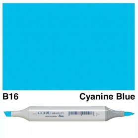 B16 Copic Sketch Bright Cyanine Blue