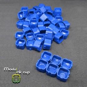 Cups Modulari Portapigmento 100pz Blue