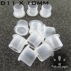 Cups Porta pigmento D11X10MM 1000Pcs Trasparenti
