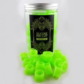 Cups Porta pigmento in Silicone D22X12MM 100PCS GREEN