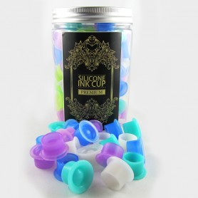 Cups Porta pigmento in Silicone D22X12MM 100PCS MULTICOLOR