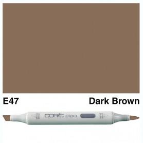E47 Copic Ciao Dark Brown