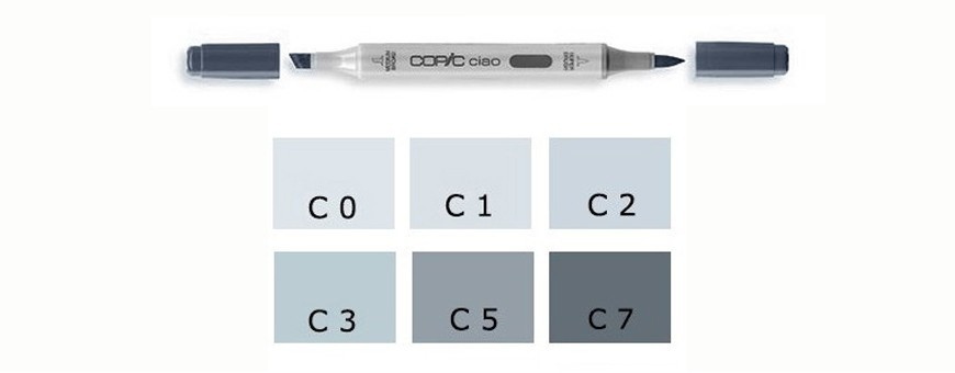 Pennarelli Copic Ciao C (Cool Gray)